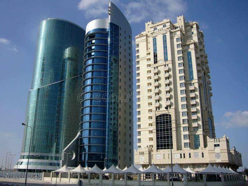 Industriellt område Doha, Qatar royaltyfri foto