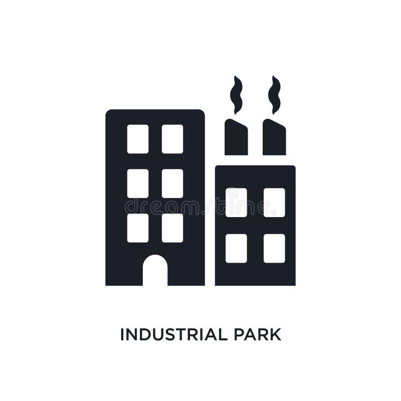 industriellt parkera den isolerade symbolen enkel beståndsdelillustration från fastighetbegreppssymboler industriellt parkera det stock illustrationer