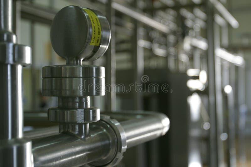 industriellt rørrostfritt stålarbete royaltyfria bilder