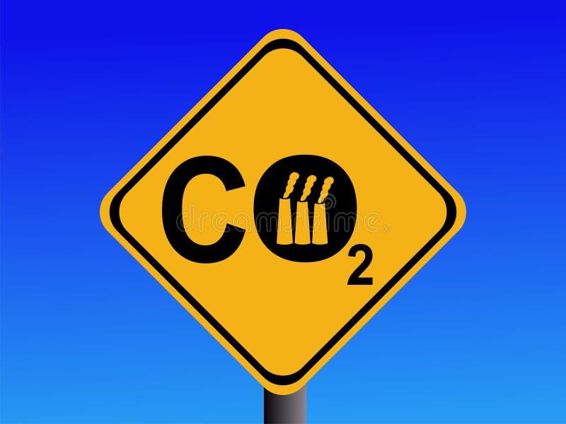 industriellt tecken för co2 stock illustrationer