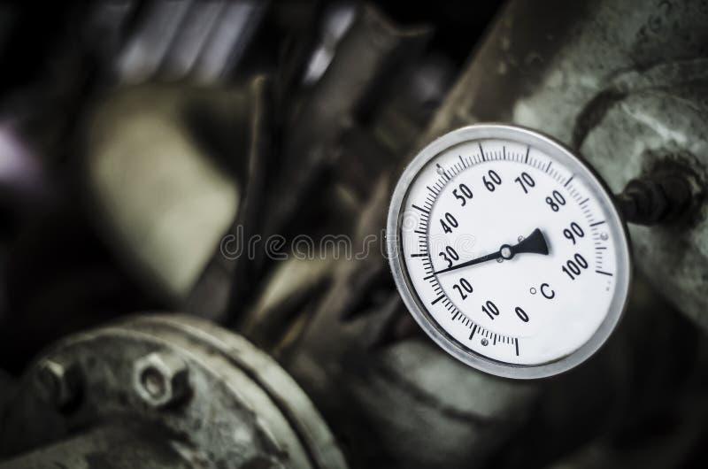 Industriellt temperaturmått royaltyfria bilder