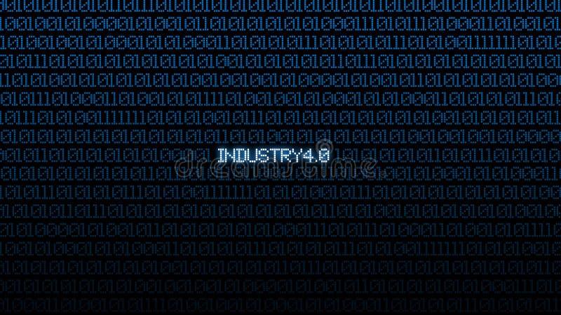 4 industriels 0 bacgkground num?riques bleus de matrice Fond et concept abstraits de technologie Connexion réseau et Internet fut illustration de vecteur