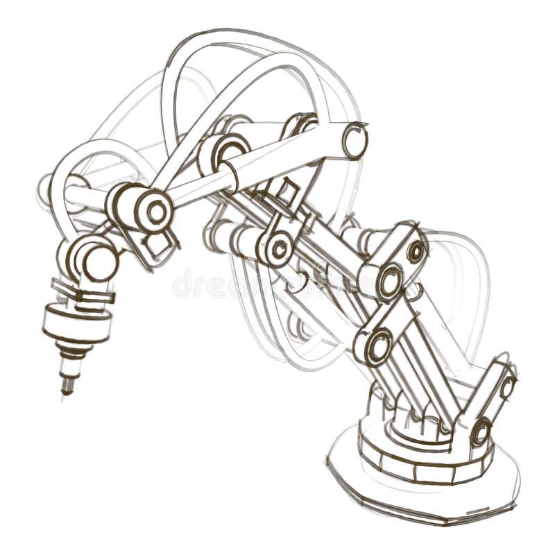Industrieroboter vektor abbildung