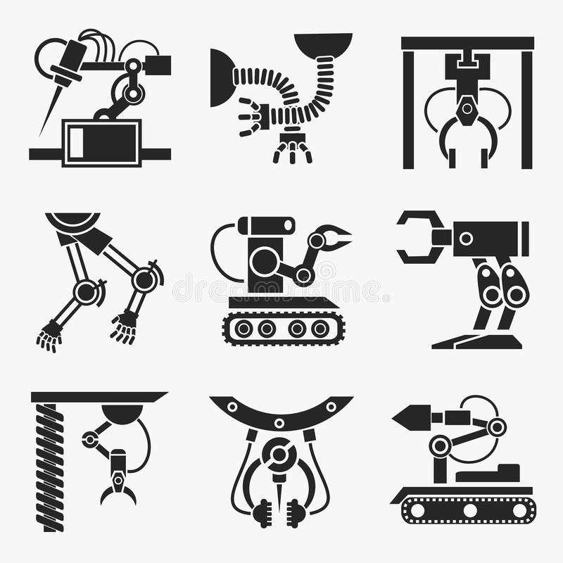 Industrierobotersatz stock abbildung