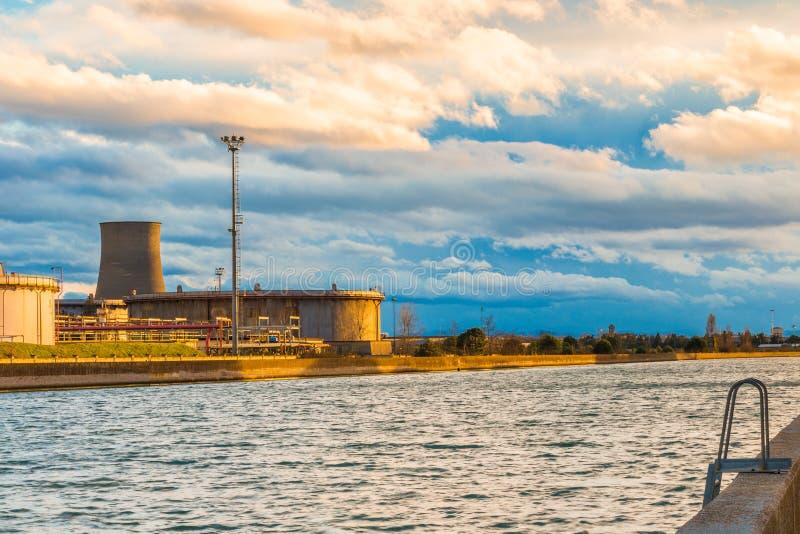 Industries de port photo libre de droits