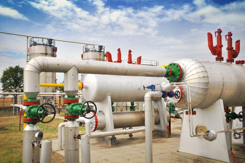 Industries du raffinage et du gaz de pétrole photos stock
