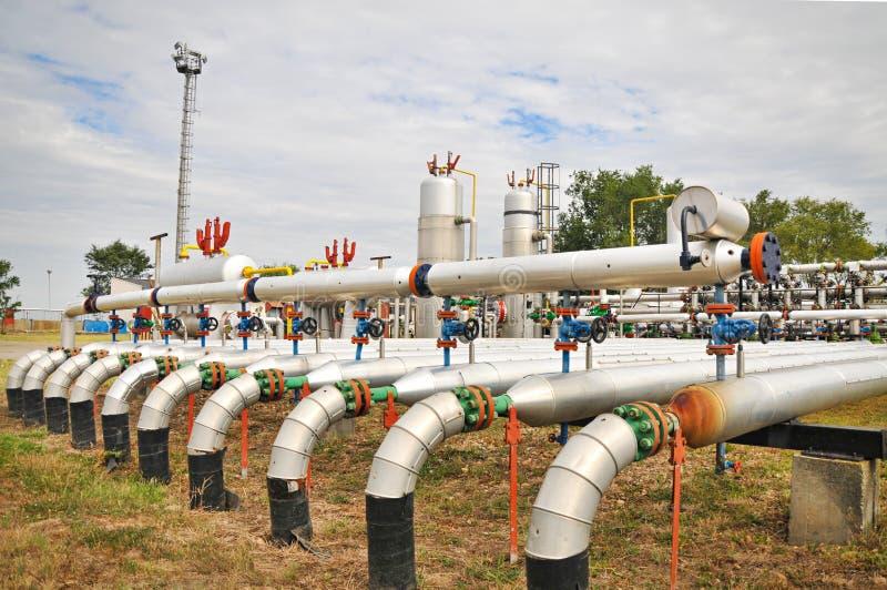 Industries du raffinage et du gaz de pétrole photos libres de droits