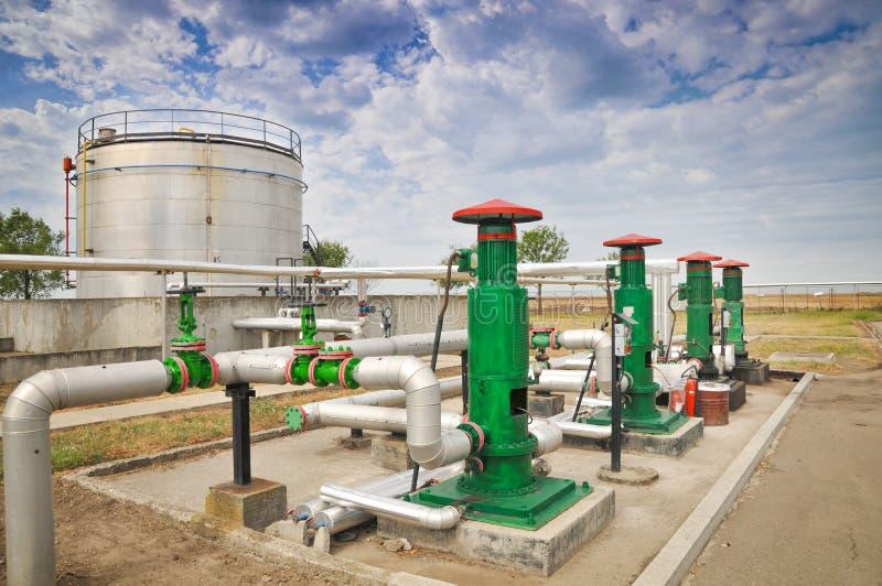 Industries du raffinage et du gaz de pétrole photographie stock libre de droits