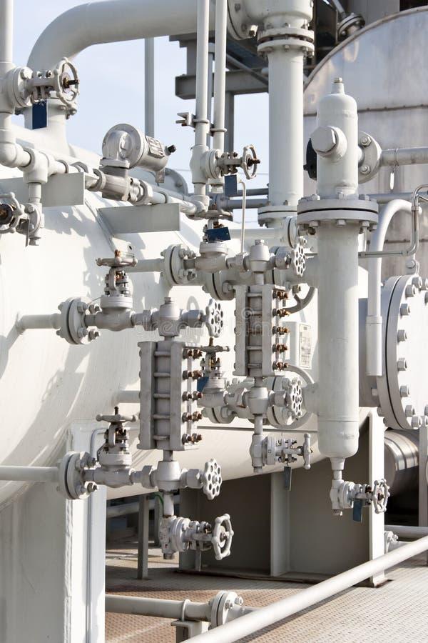 Industries du raffinage et du gaz de pétrole images stock
