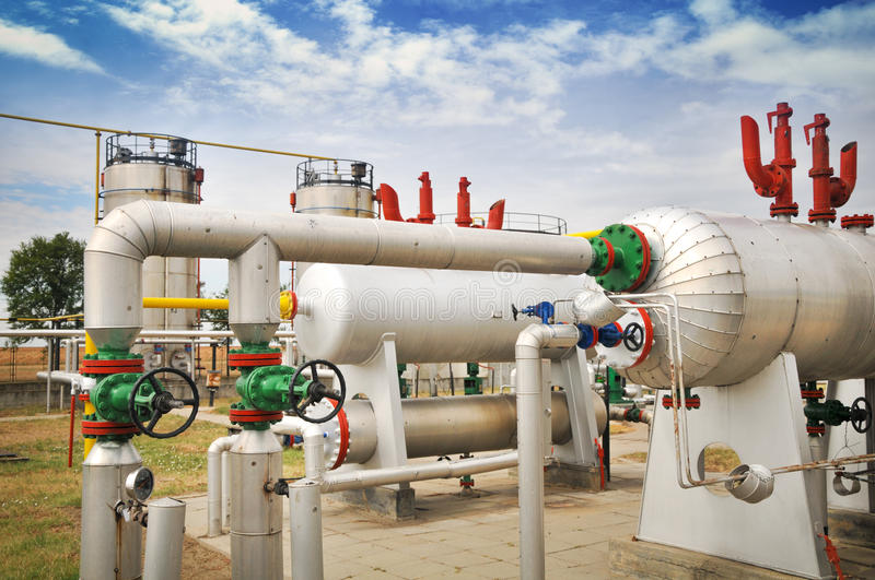Download Industries Of Oil Refining And Gas Stock Image - Image: 28546263