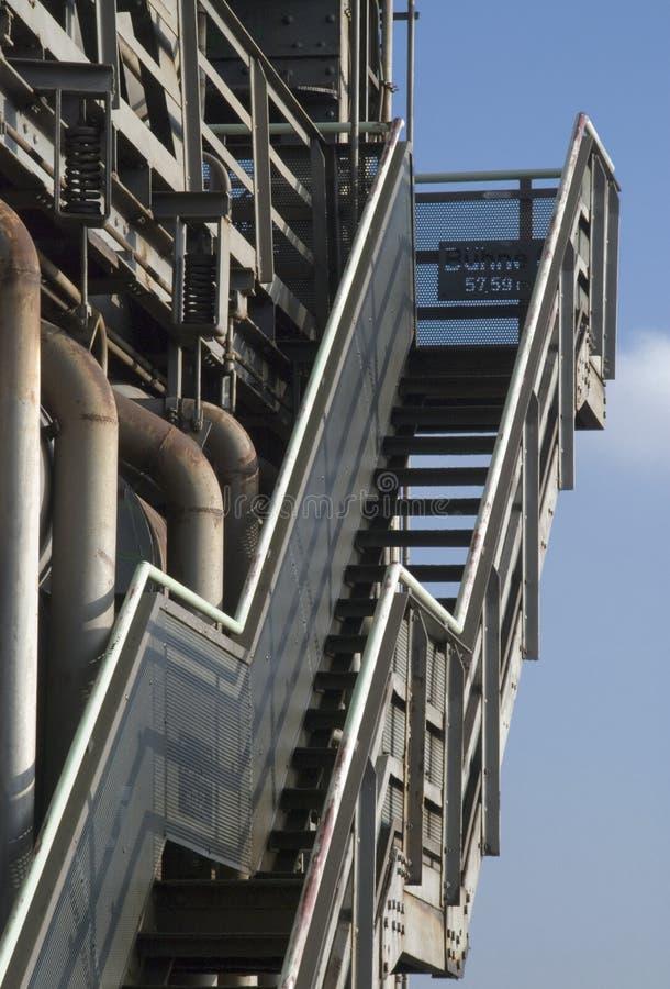 Industrietreppenhausdetail lizenzfreies stockbild