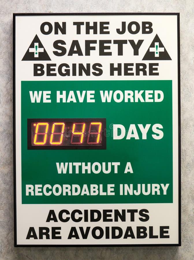 Industril Job Safety Notice Sign photo libre de droits