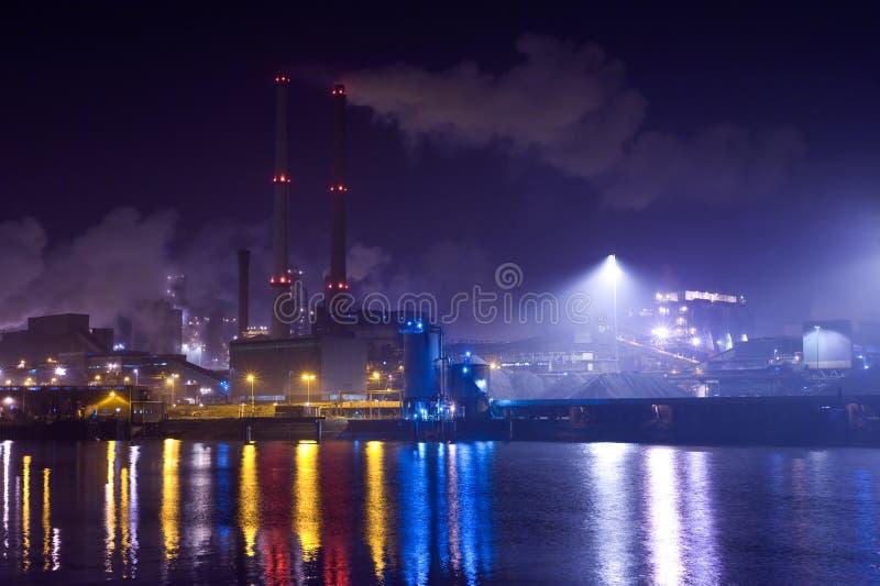 industrinatt arkivbilder