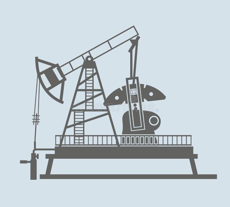 industrioljepump russia stock illustrationer