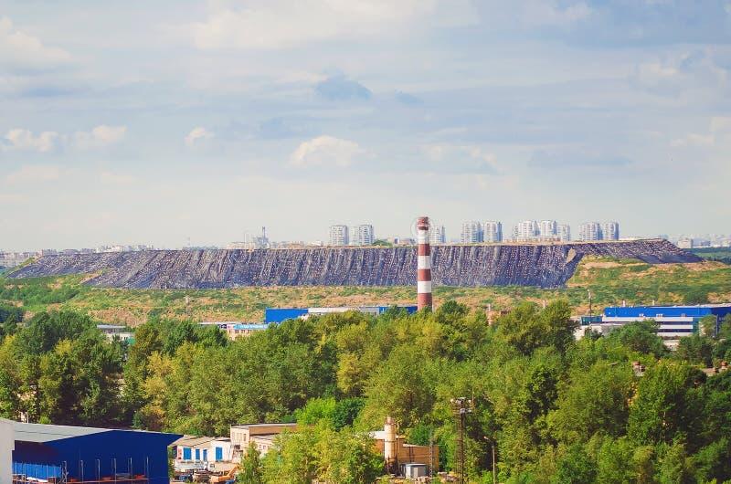 Industriområde i staden royaltyfria foton