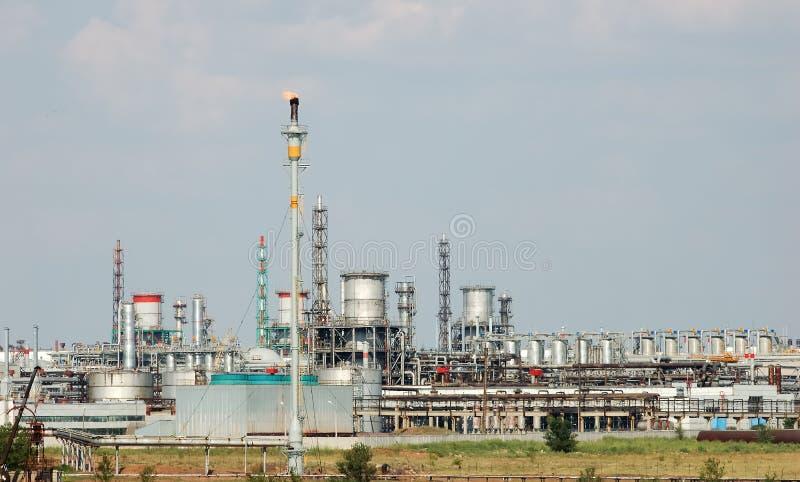 industripetrochemicalsikt fotografering för bildbyråer