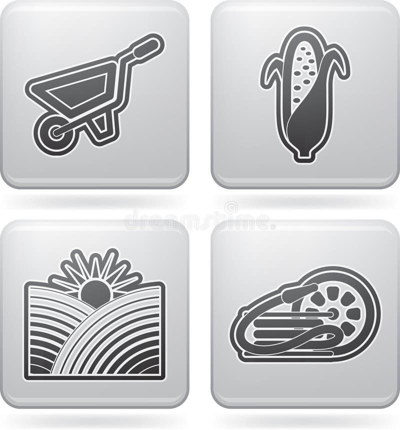 Industrisymboler: Jordbruk stock illustrationer