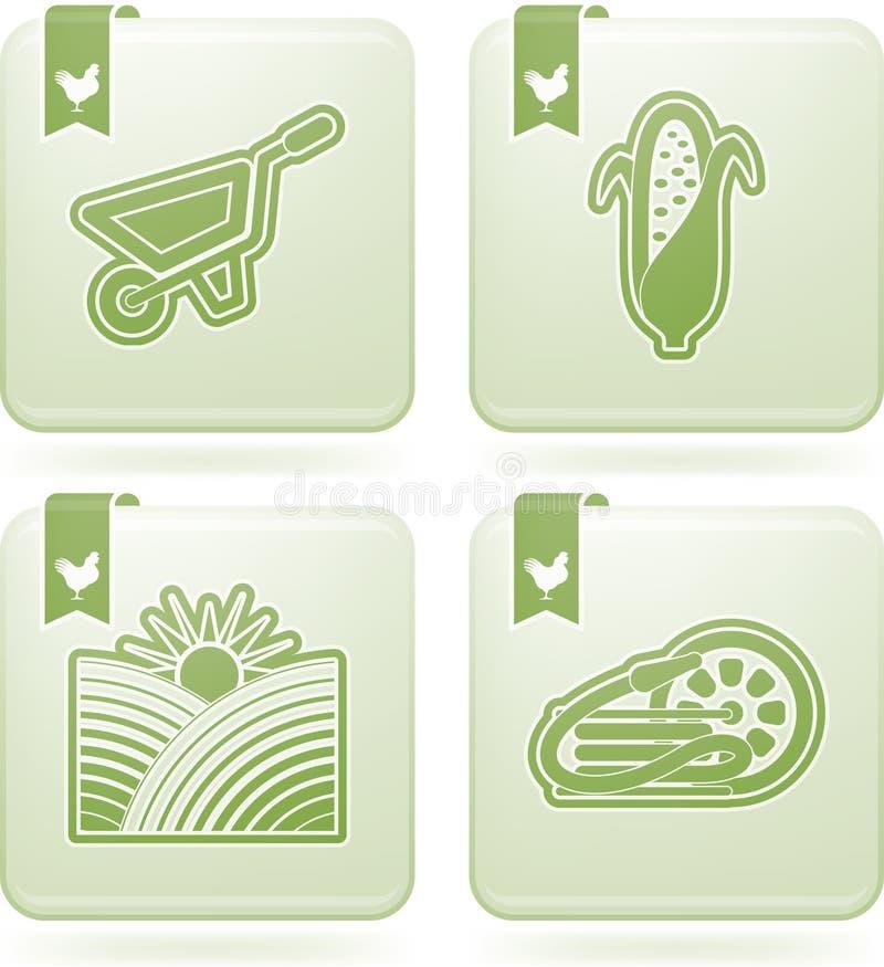 Industrisymboler: Jordbruk vektor illustrationer