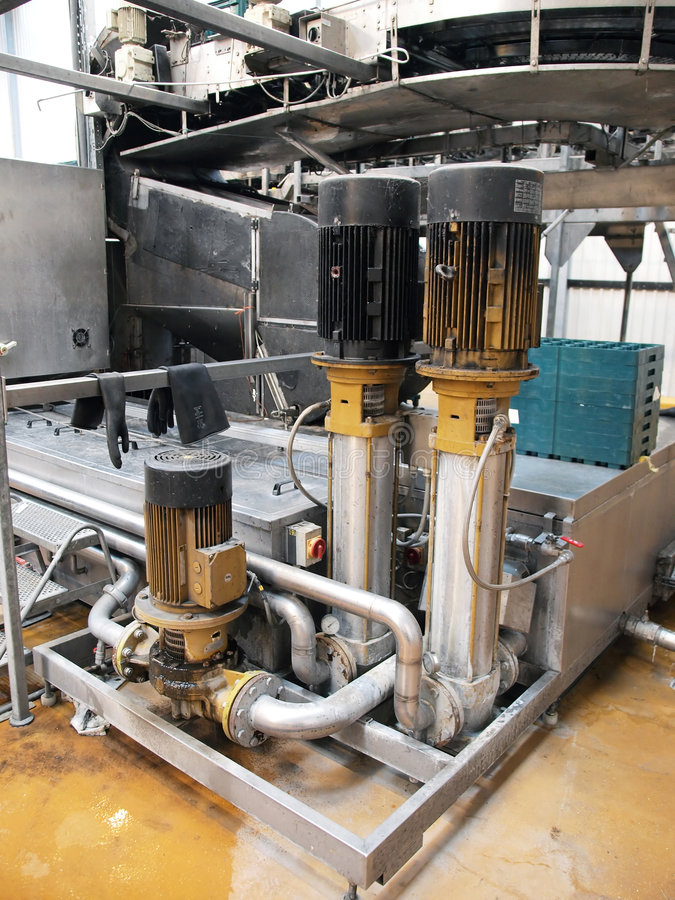 Industry. Machinery in a modern industrial factory plant stock image