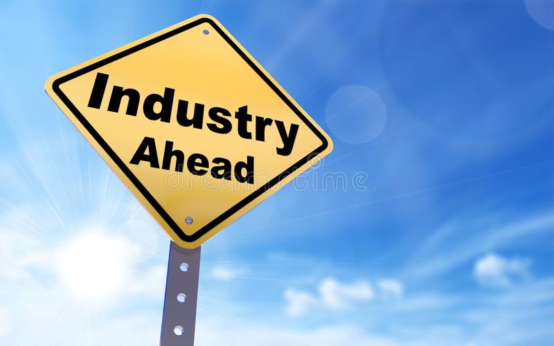 Industry ahead sign stock illustration