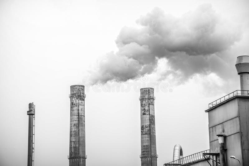 Industry. Big industry stacks coming out smoke royalty free stock photos
