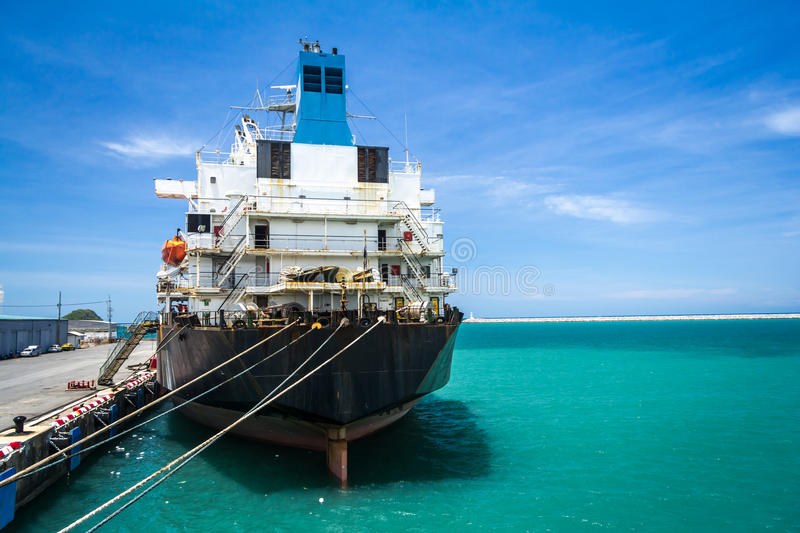 Download Industry Boat stock photo. Image of blue, ship, container - 26194532
