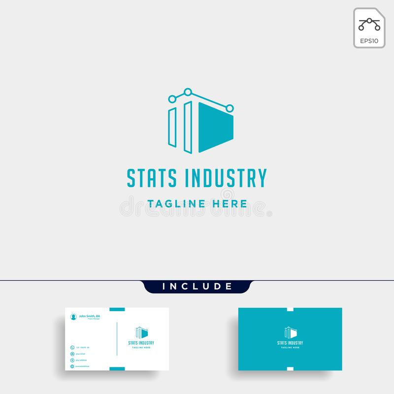 Industry chart logo vector fabric industrial simple icon symbol sign isolated. Industry chart logo vector fabric industrial simple icon symbol sign illustration royalty free illustration
