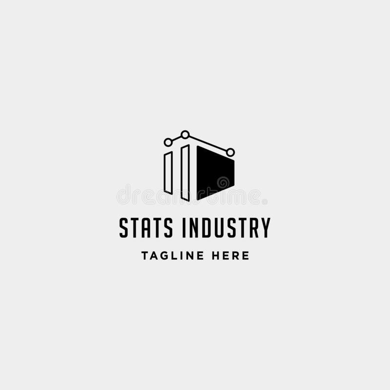 Industry chart logo vector fabric industrial simple icon symbol sign isolated. Industry chart logo vector fabric industrial simple icon symbol sign illustration stock illustration