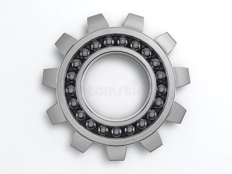 Industry Cog. 3D Illustration of the rendered industry steel Cog royalty free illustration