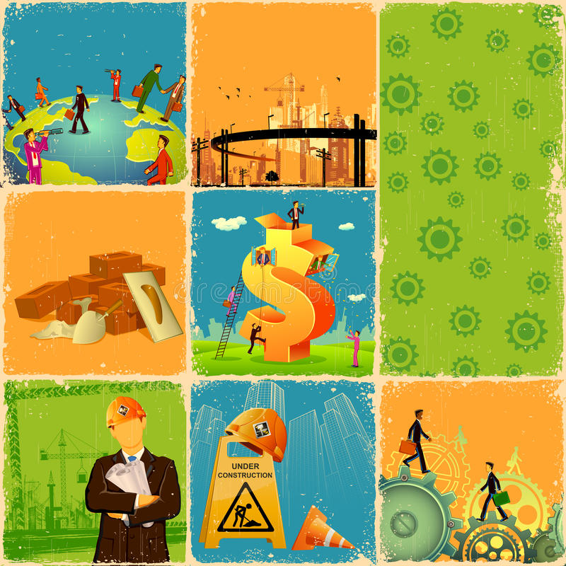 Industry Collage stock illustration
