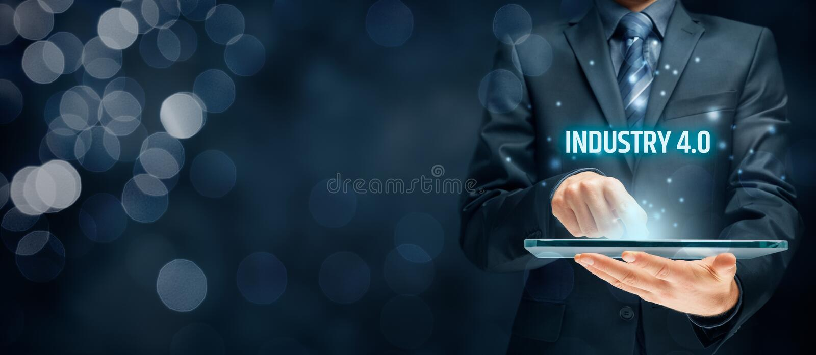 Download Industry 4.0 concept stock photo. Image of blue, industry - 95447944