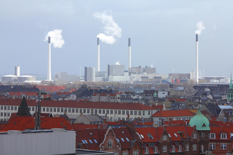 Download Industry in Denmark stock photo. Image of chimney, infrastructure - 26464218