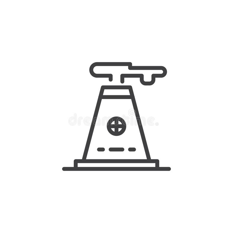 Industry factory outline icon stock illustration