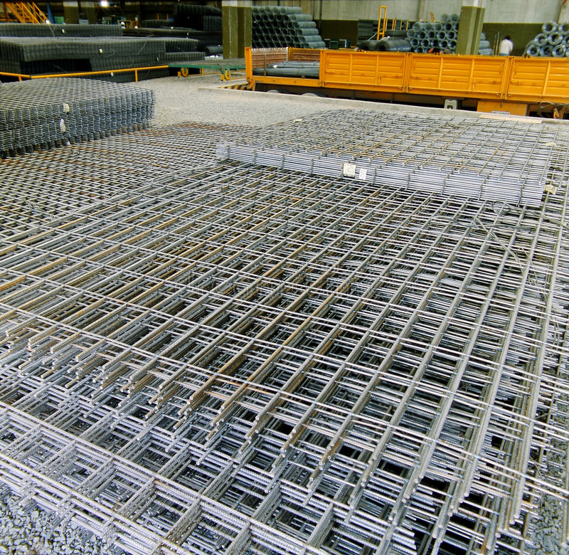 Industry Grid Of Steel Stock Photography