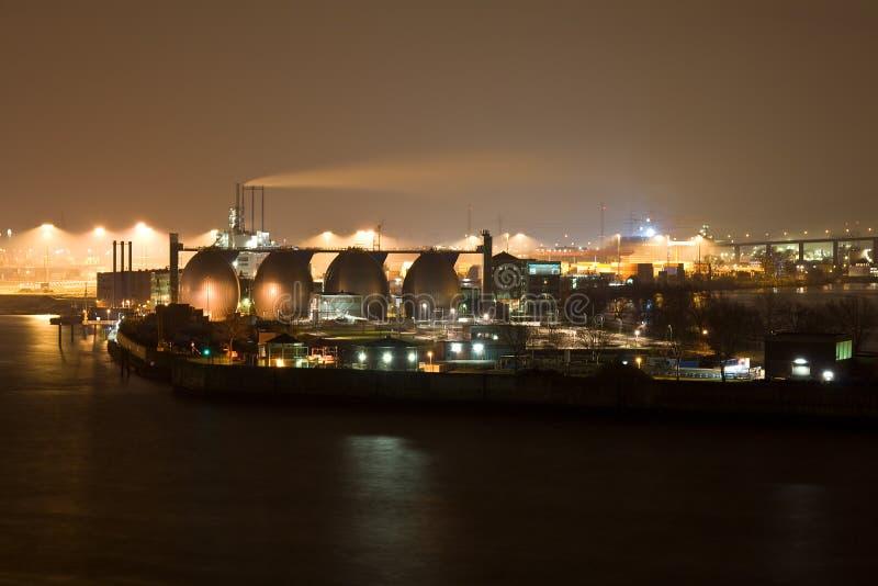 Industry in Hamburg harbor stock photo
