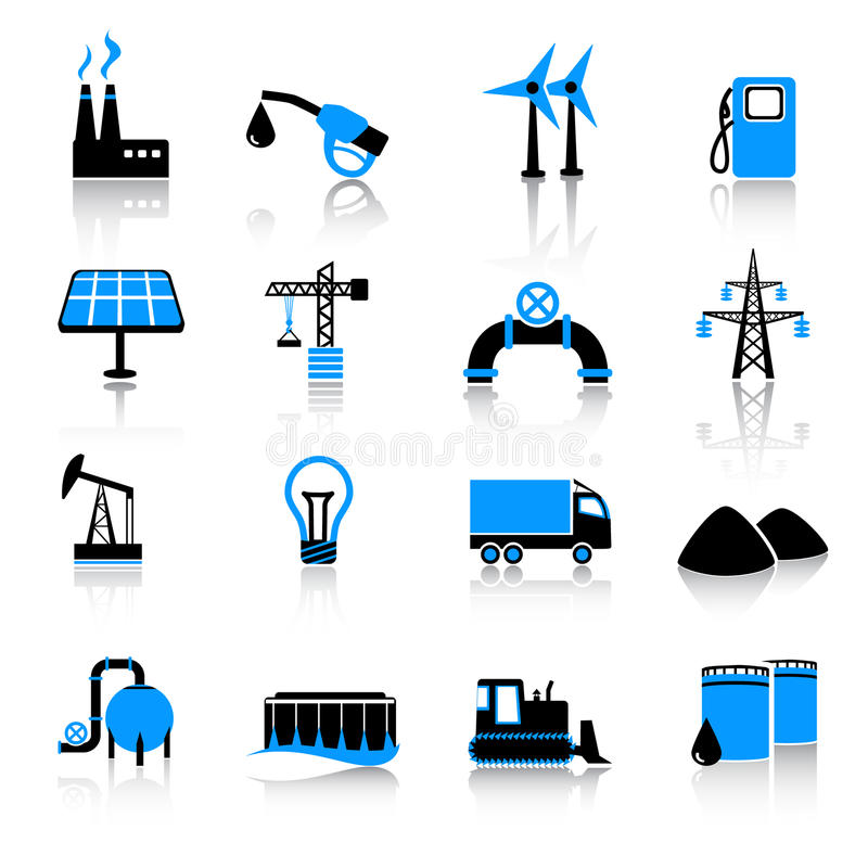 Industry icon set. Set of 16 industry icons