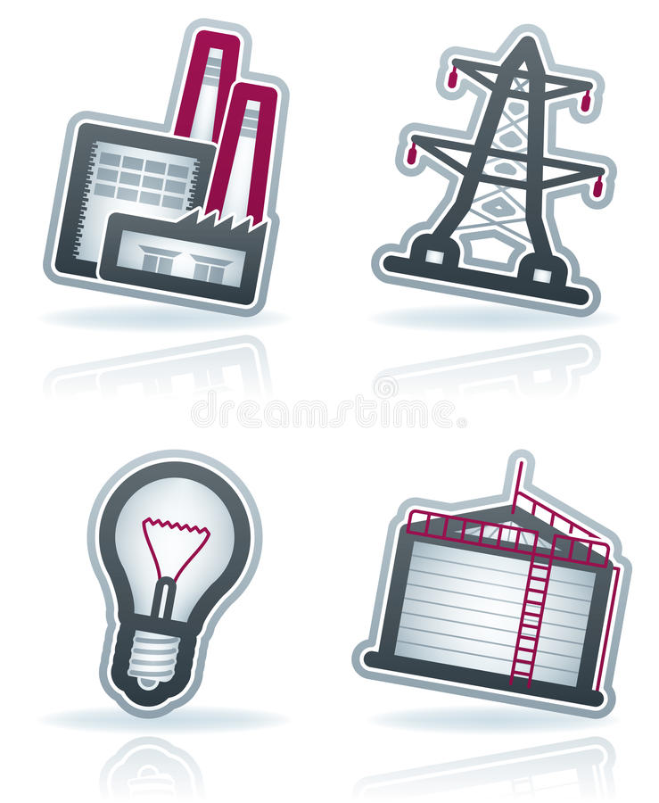 Download Industry Icons Royalty Free Stock Photo - Image: 25179375