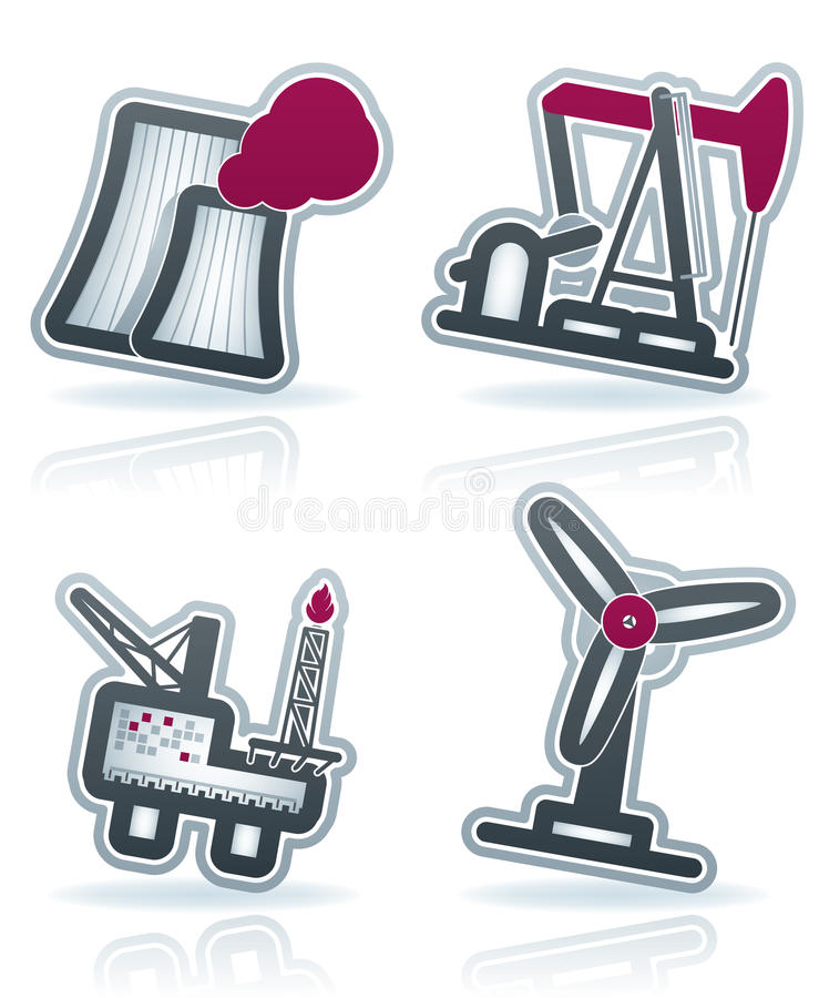 Download Industry Icons stock vector. Image of vector, white, sign - 25179376