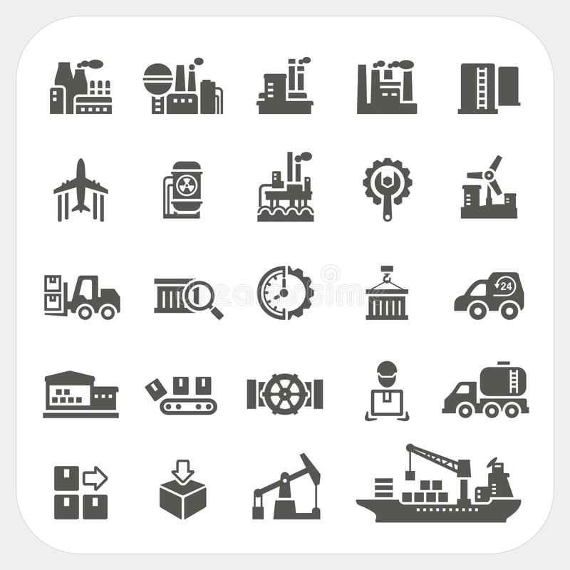 Free Industry Icons Set Royalty Free Stock Image - 39972996