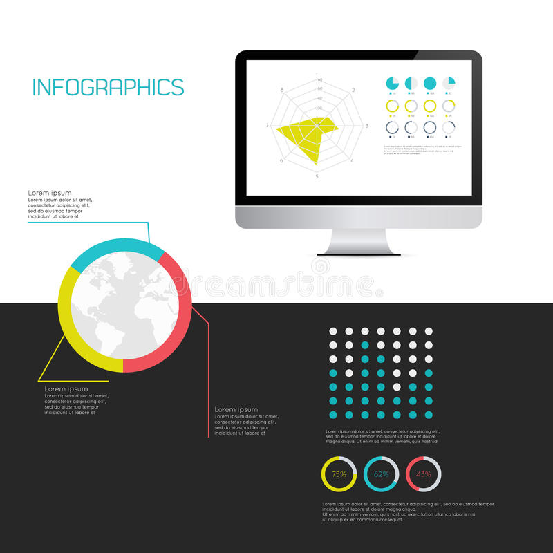 IT Industry Infographic Elements. EPS10 Vector Illustration royalty free illustration