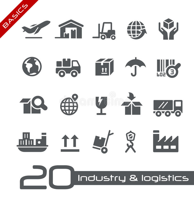 Industry & Logistics Icons // Basics Series. Vector icons for your web or printing projects royalty free illustration