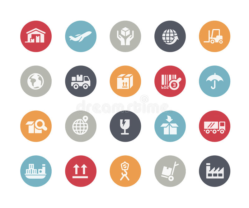 Industry & Logistics Icons // Classics Series. Vector icons for your web or printing projects stock illustration