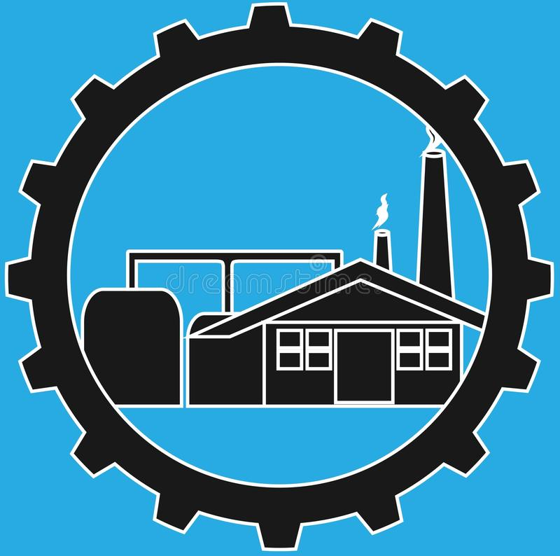 Industry logo. A simple industrial logo with gear frames