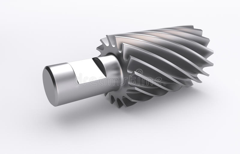 Industry milling cutter. 3D Illustration of the rendered industry milling cutter royalty free illustration
