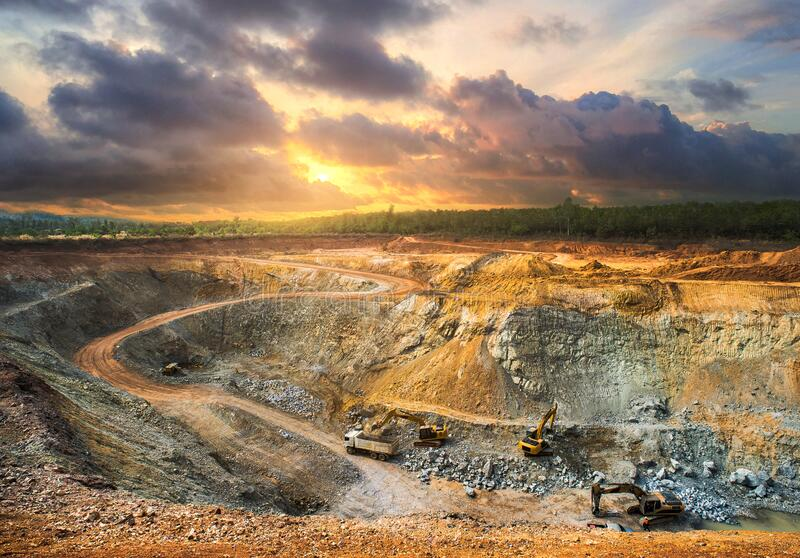 Industry mining quarry in Thailand royalty free stock photos