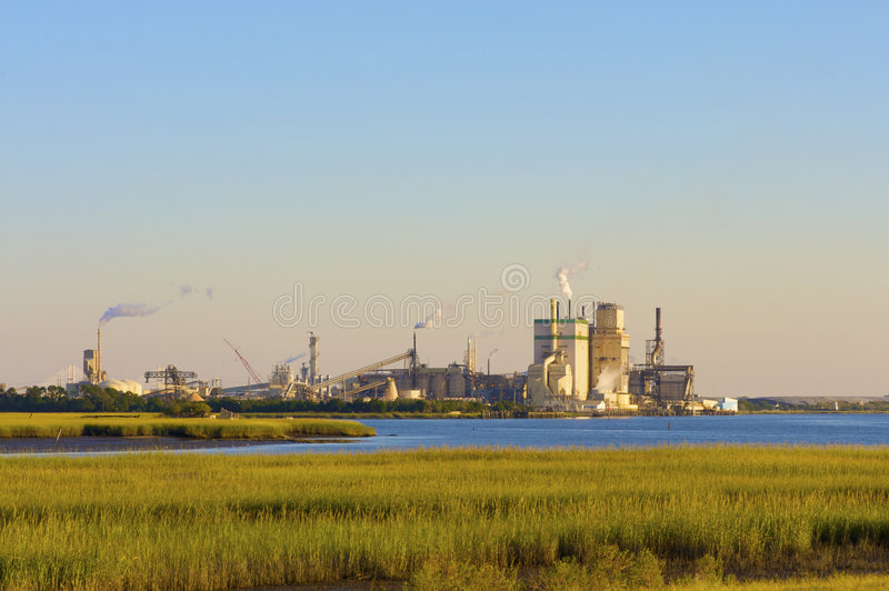 Industry and Nature stock photos