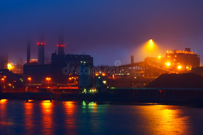 Industry at night royalty free stock image
