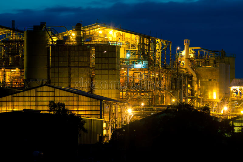 Download Industry in Onton stock image. Image of night, cantabria - 25307309