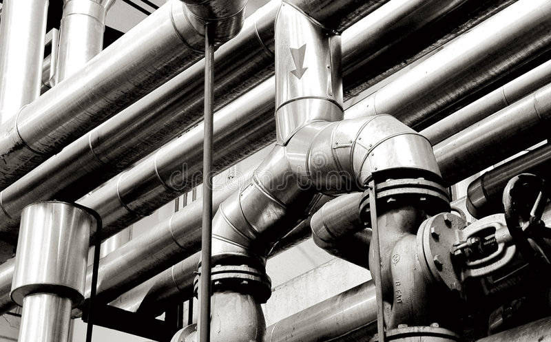 Industry pipes and industry systems stock images