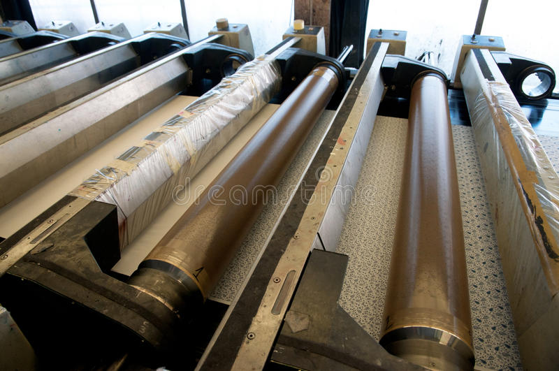 Industry: plant for textile printing stock image